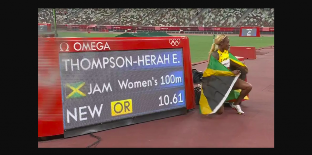 oro 100 metros récord olímpico